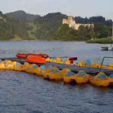 Rowerki wodne na Jeziorze Czorsztynskim