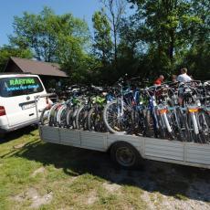 wypozyczalnia rowerów z transportem