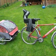 Rower z przyczepką dla dziecka Sromowce Nizne