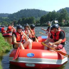 Dobijamy do brzegu rafting Fun Time