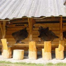 Szałas z grillem w domku Pod pstragiem