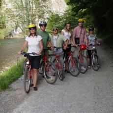 Trasa rowerowa koło Dunajca w Pieninach