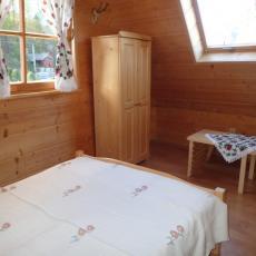 Sypialnia w domku myśliwskim, w Pieninach